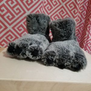 "Other - Toddler Fuzzy ""Fur"" Slippers"